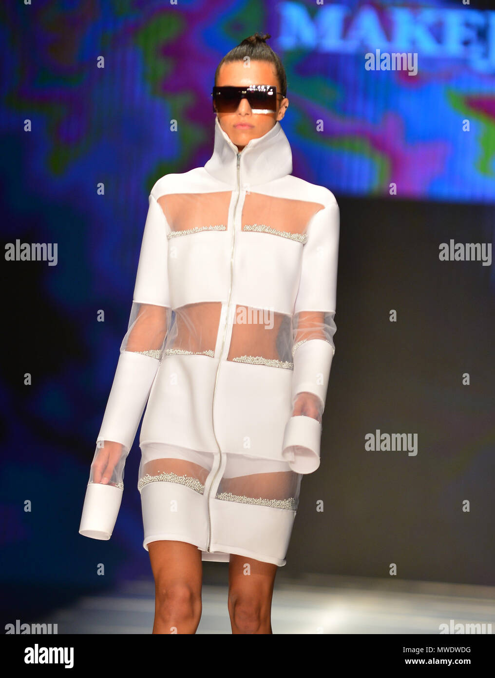 Miami Fl May 31 A Model Walks The Runway At The Miami Fashion Institute Fashion Show During The Miami Fashion Week Miafw 18 Feature Up To 12 Student Fashion Designers At Ice