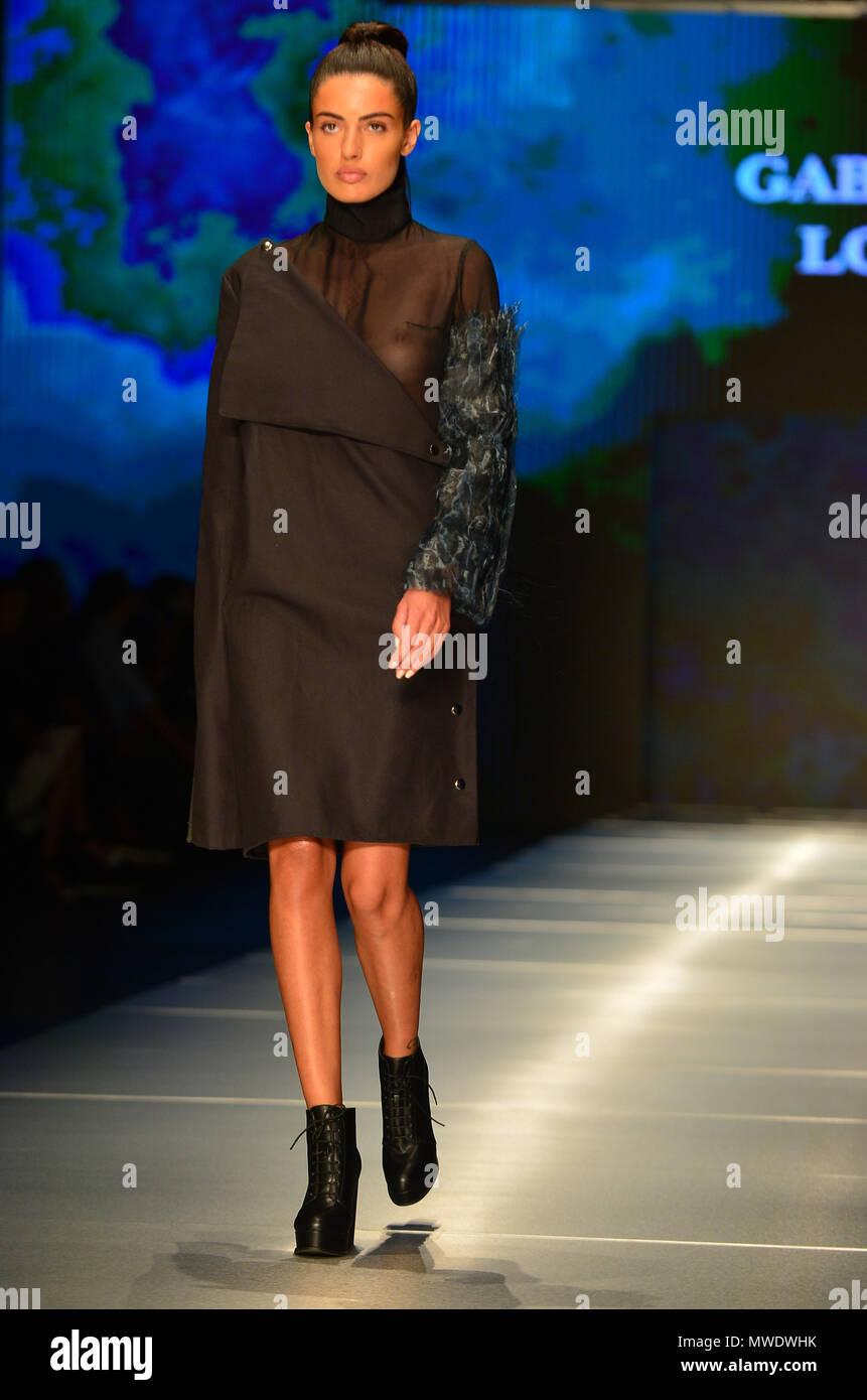 Miami Fl May 31 A Model Walks The Runway At The Miami Fashion Institute Fashion Show