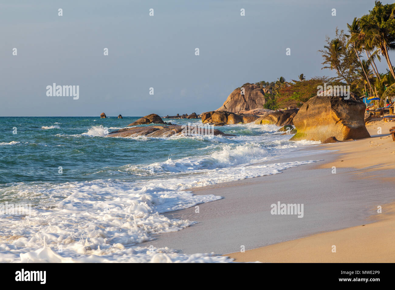 Morning on the island of Koh Samui - Stock Image