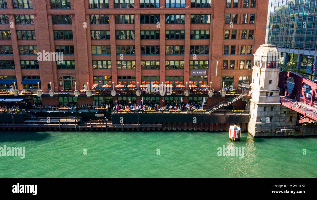 The Kitchen Restaurant, Riverwalk, Chicago River, Chicago, IL, USA ...