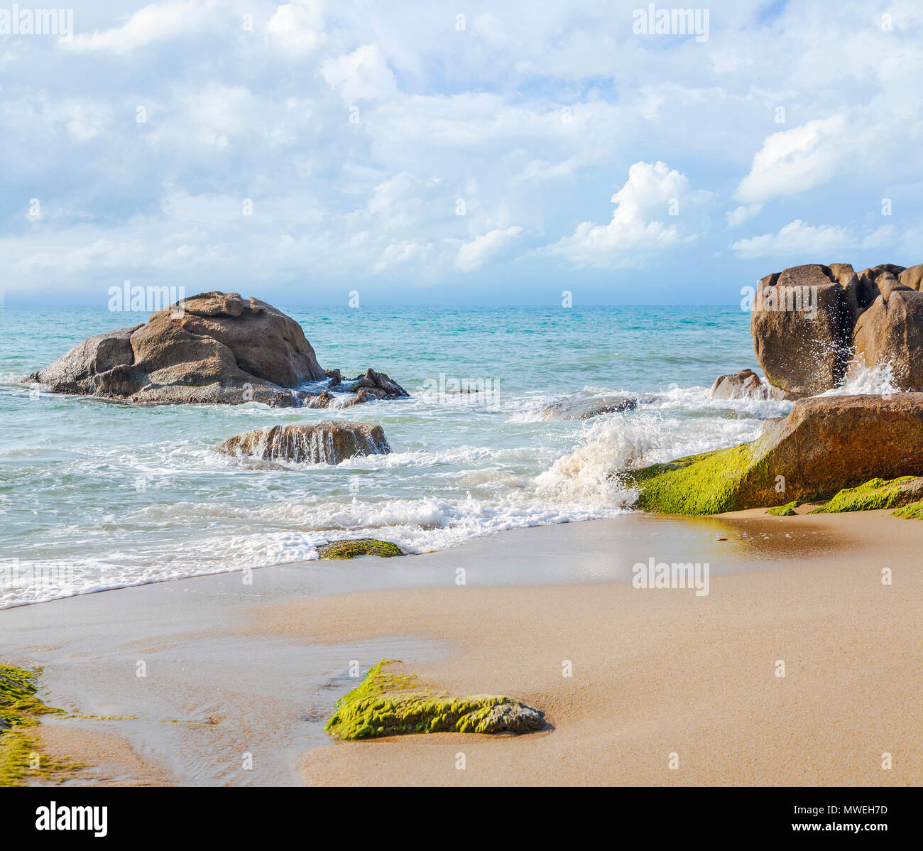 Azure sea of Thailand. - Stock Image
