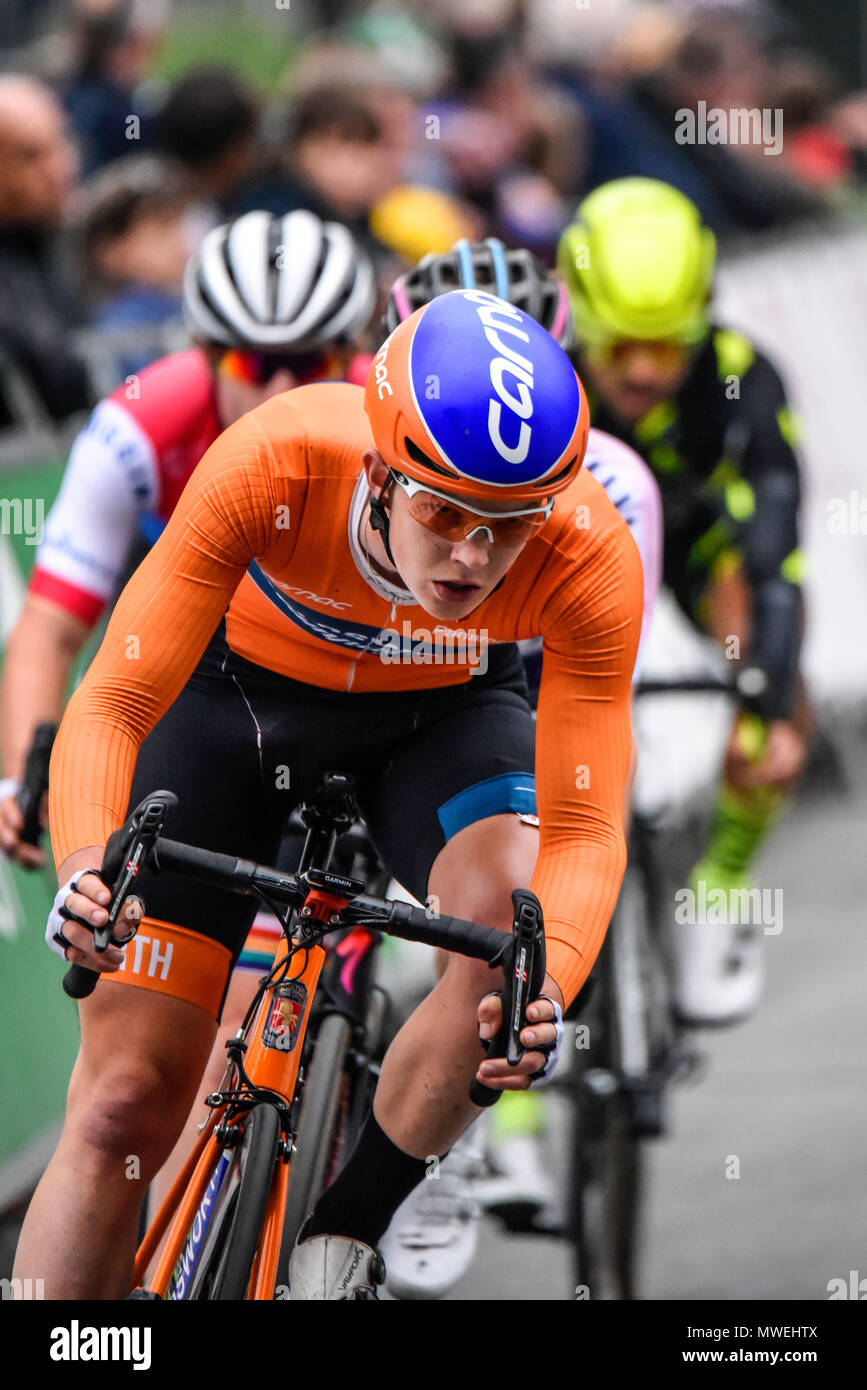 Rider of Holdsworth Pro Racing racing in the elite men s 2018 OVO Energy  Tour Series cycle f49650e8d