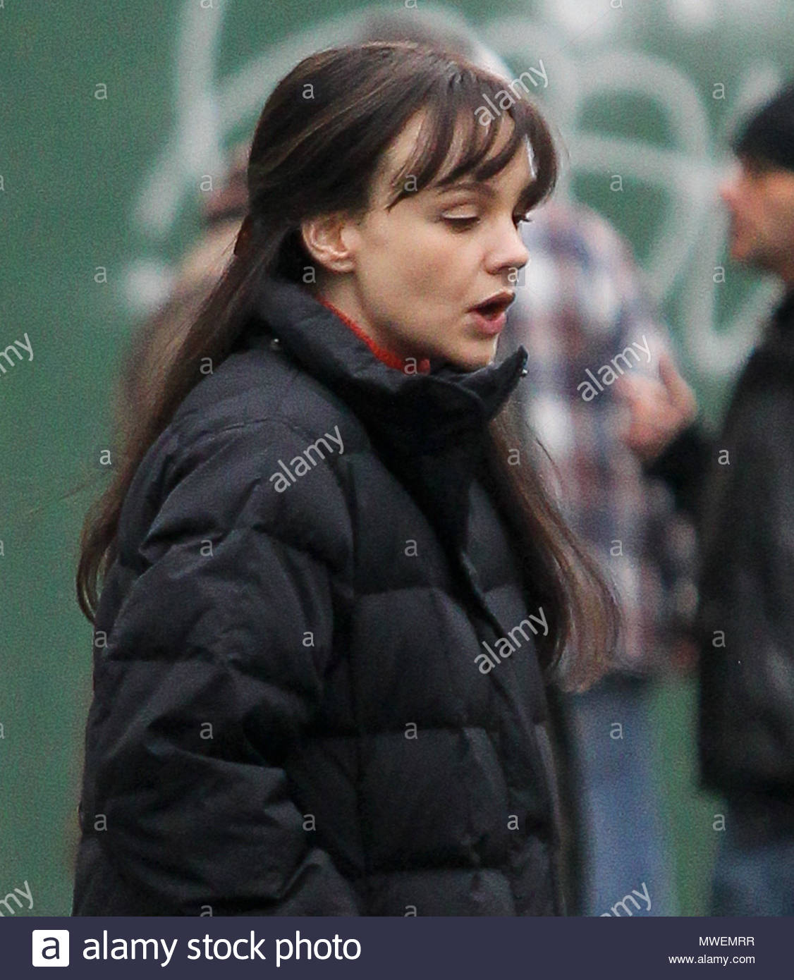 Carey Mulligan Carey Mulligan Seen Going To The Movie Set Inside