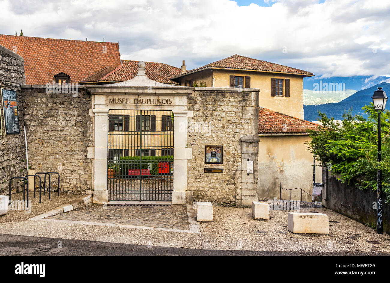 Entrance of The Dauphinois museum (Musee dauphinois) - Stock Image