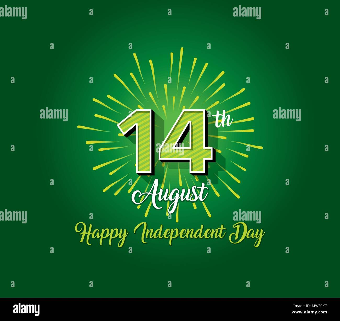 Pakistan Independence Day Wallpaper 14th August Logo With Firework