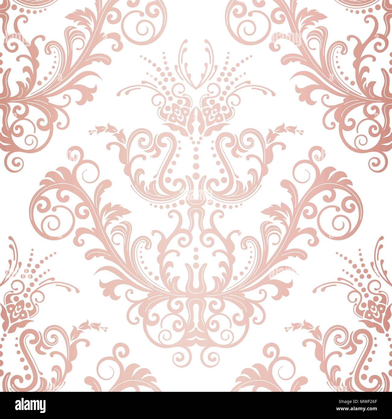 Seamless Rose Gold Floral Vintage Wallpaper Pattern This Image Is