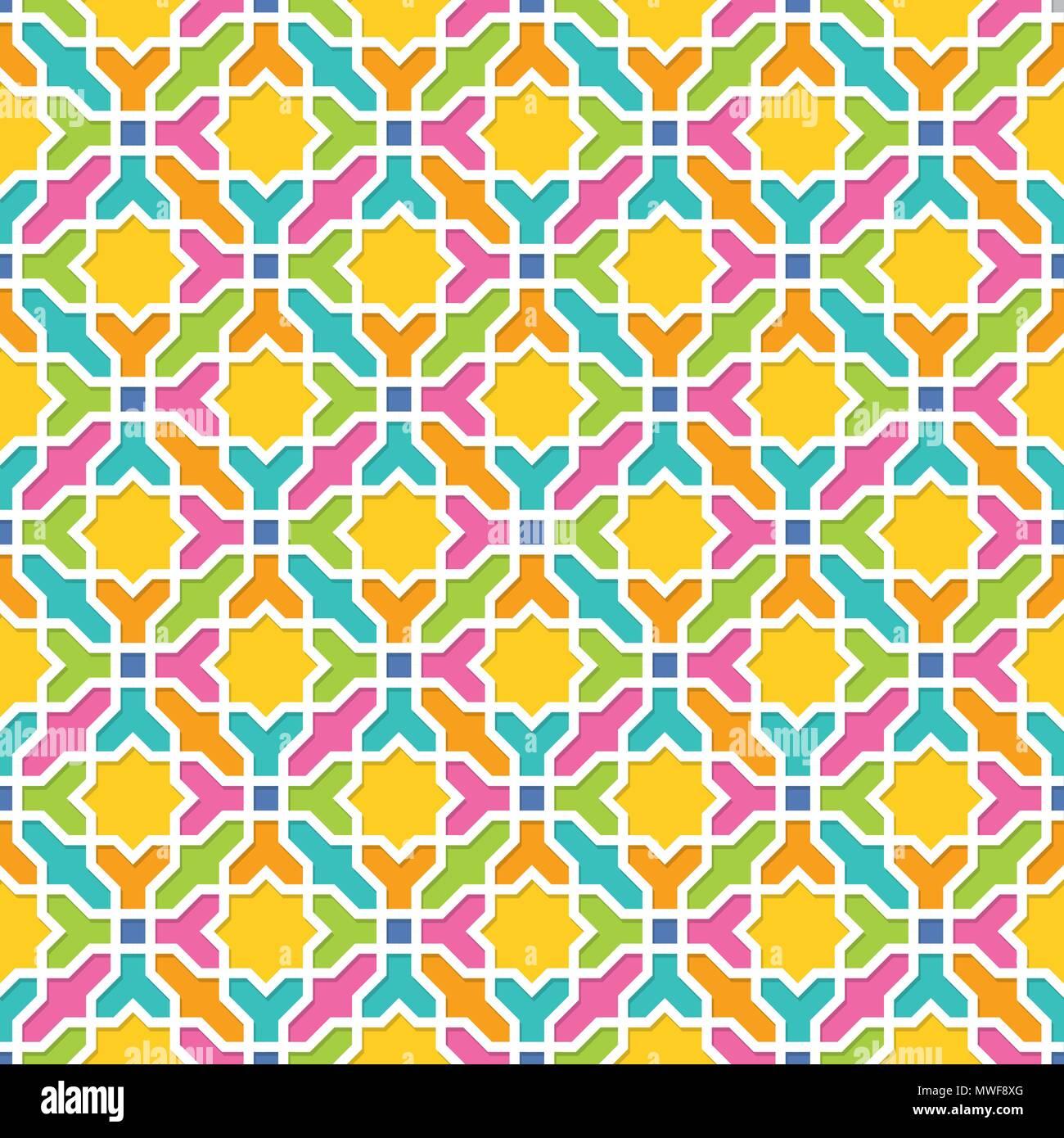 Geometric pattern in Arabian style, Seamless vector background