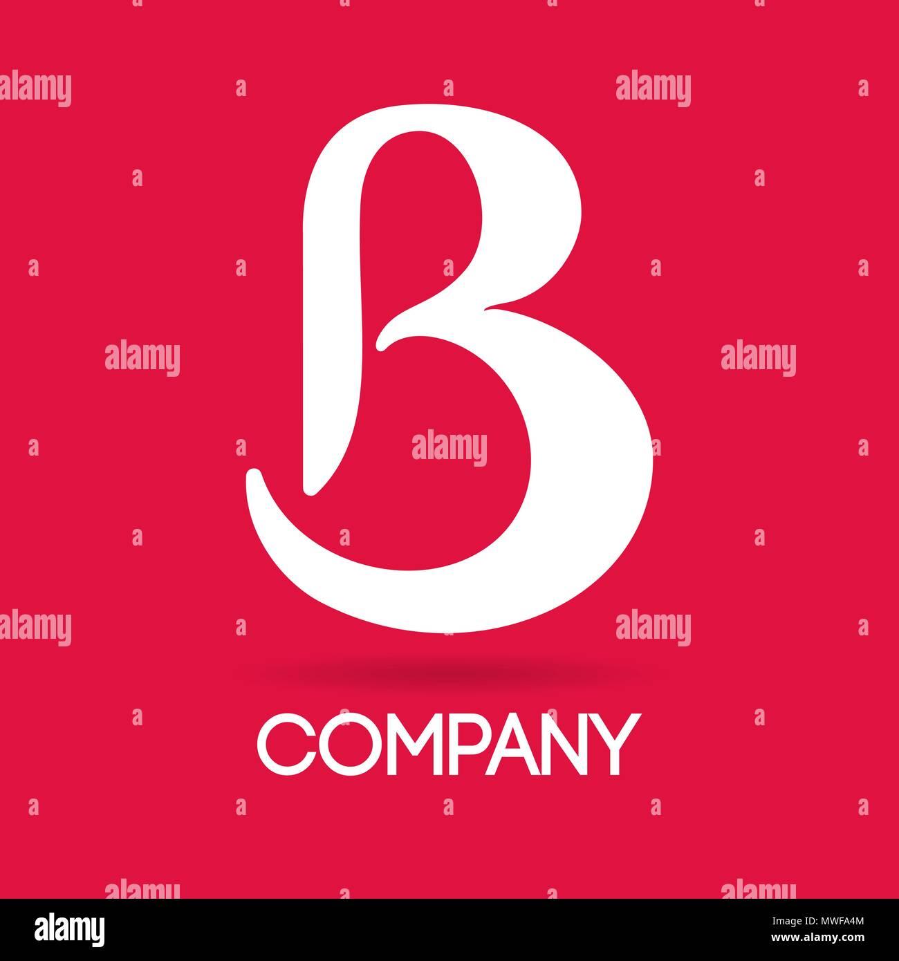 Elegant letter B design for logotypes and branding - Stock Image