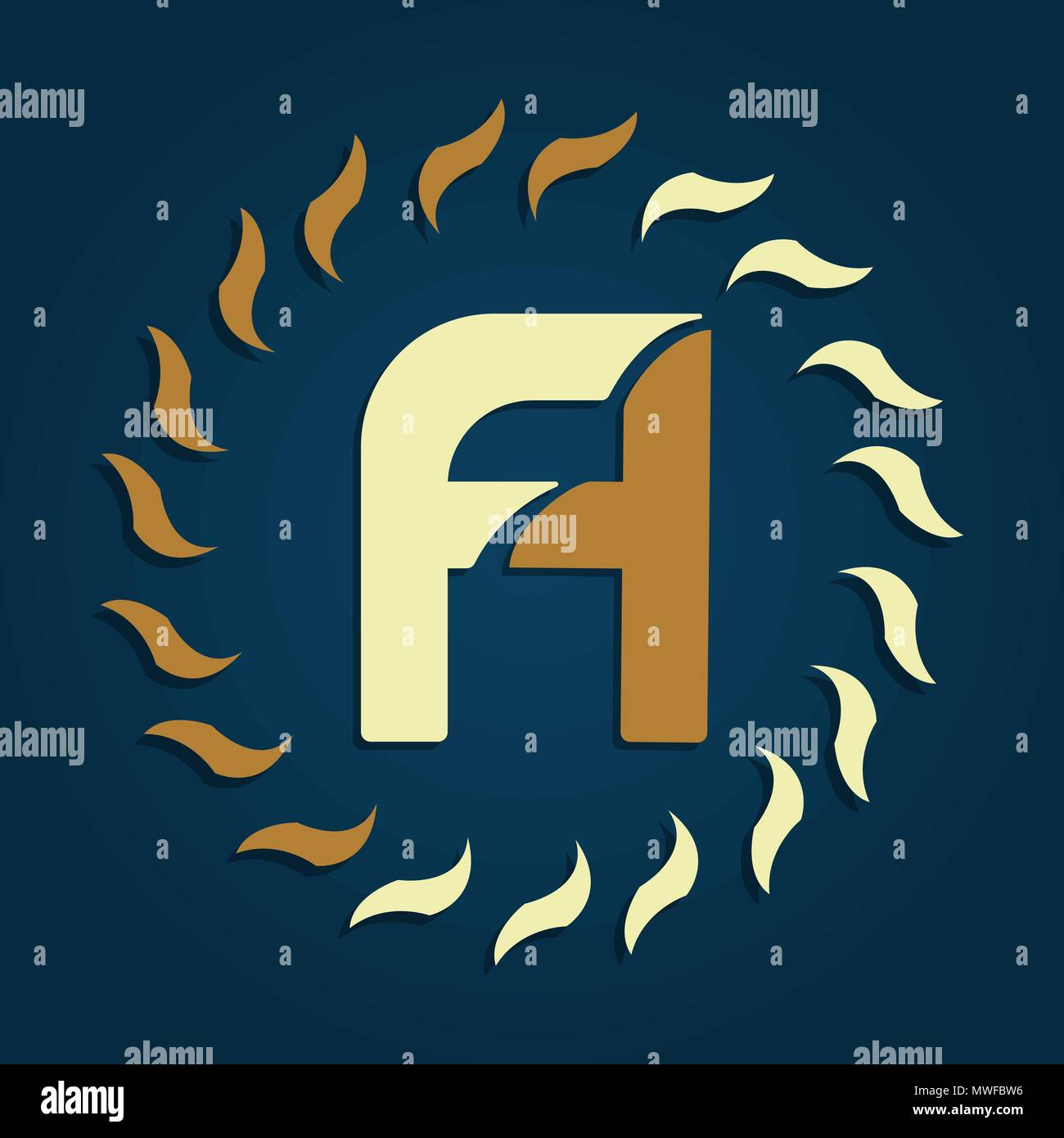 fa capital letters abstract luxury logo monogram design template