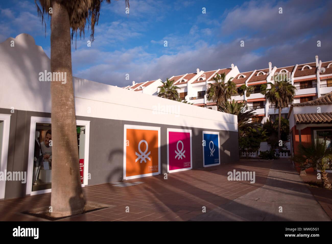 United Colours of Benetton Store, Tenerife. - Stock Image