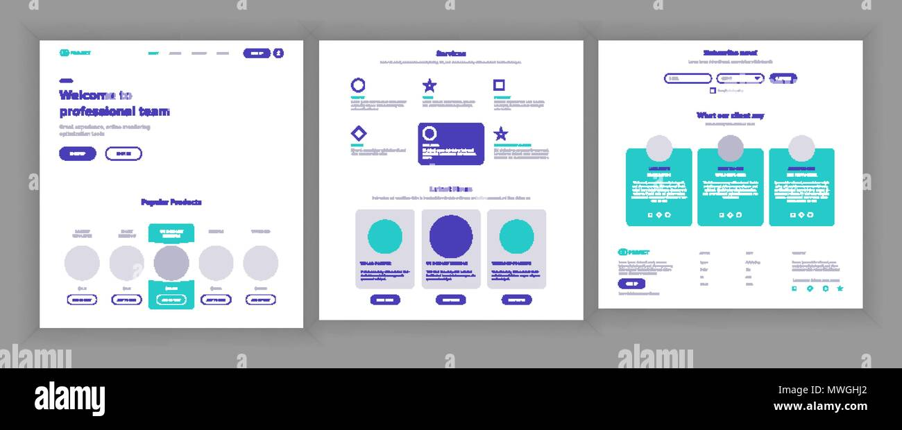 website template vector page business interface landing web page