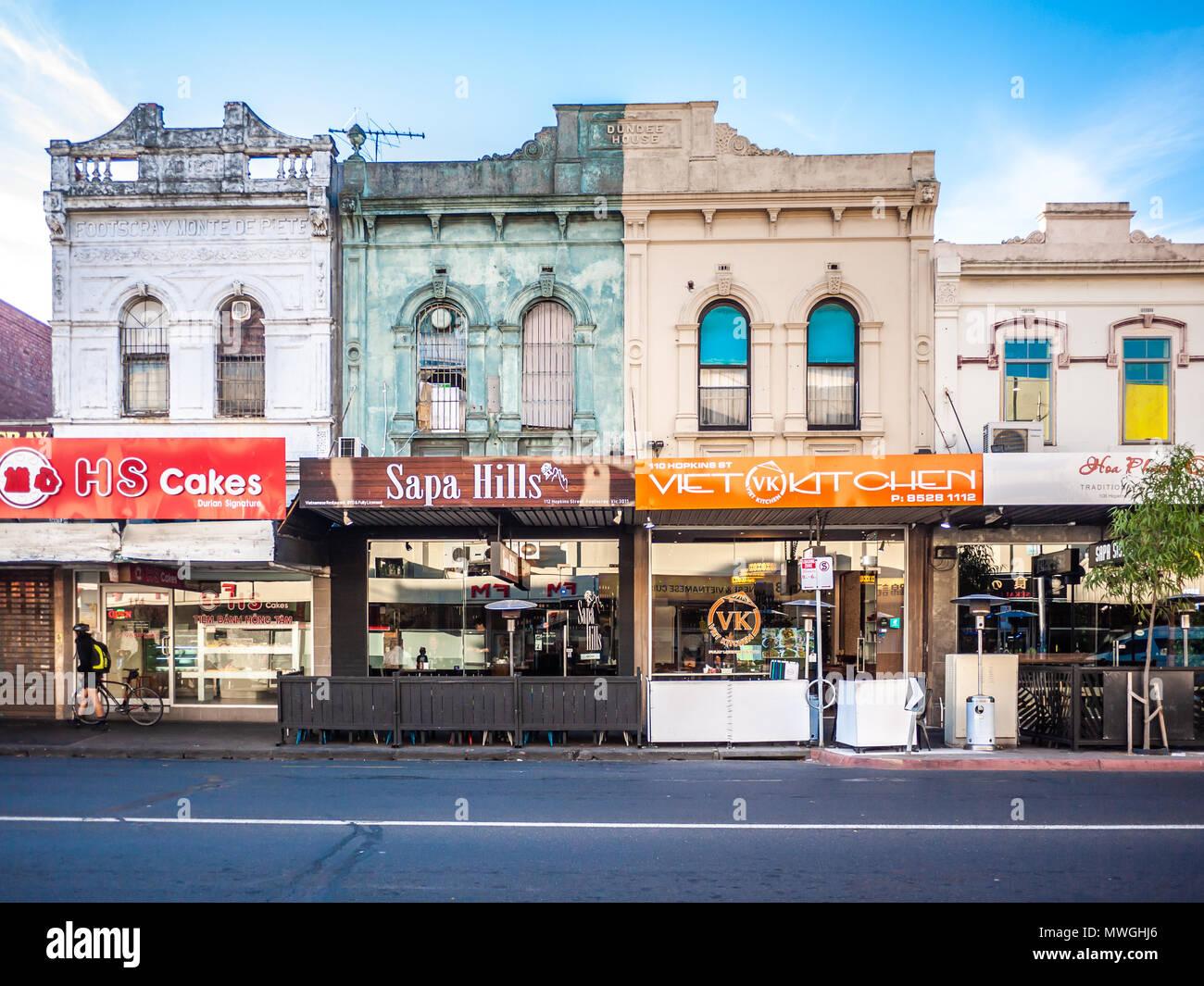 Asian Restaurants Along Melbourne S Suburban Street In
