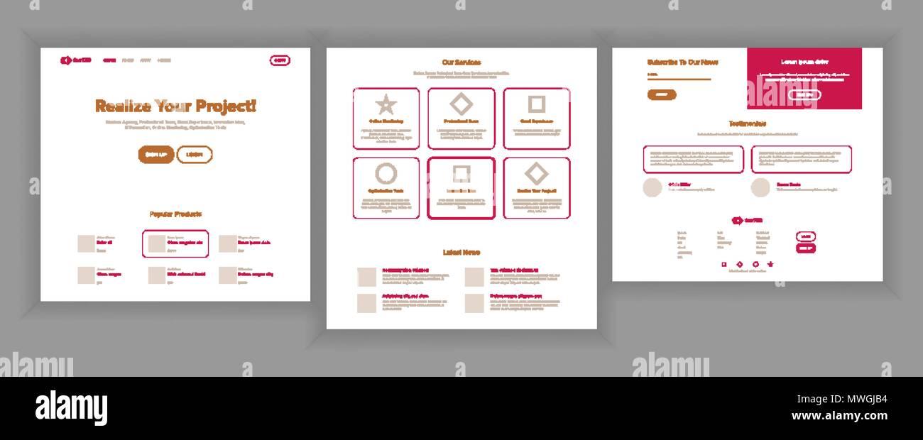 Website Page Vector. Business Website. Web Page. Landing Design ...