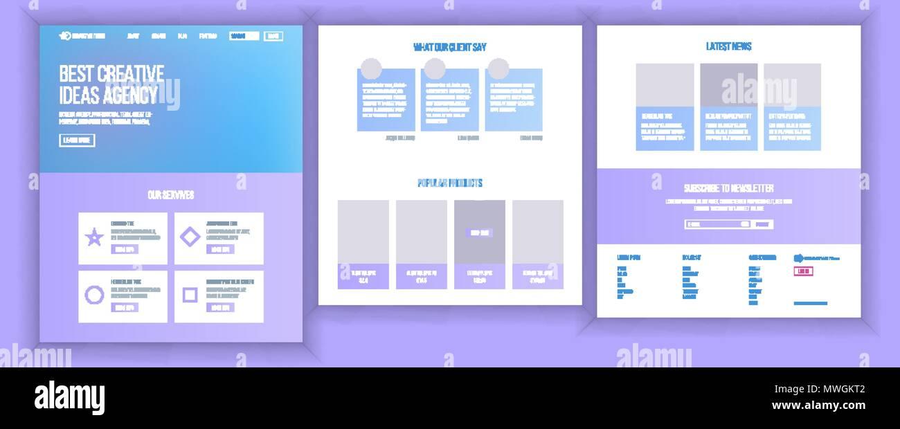 Website Template Vector Page Business Landing Web Page Responsive