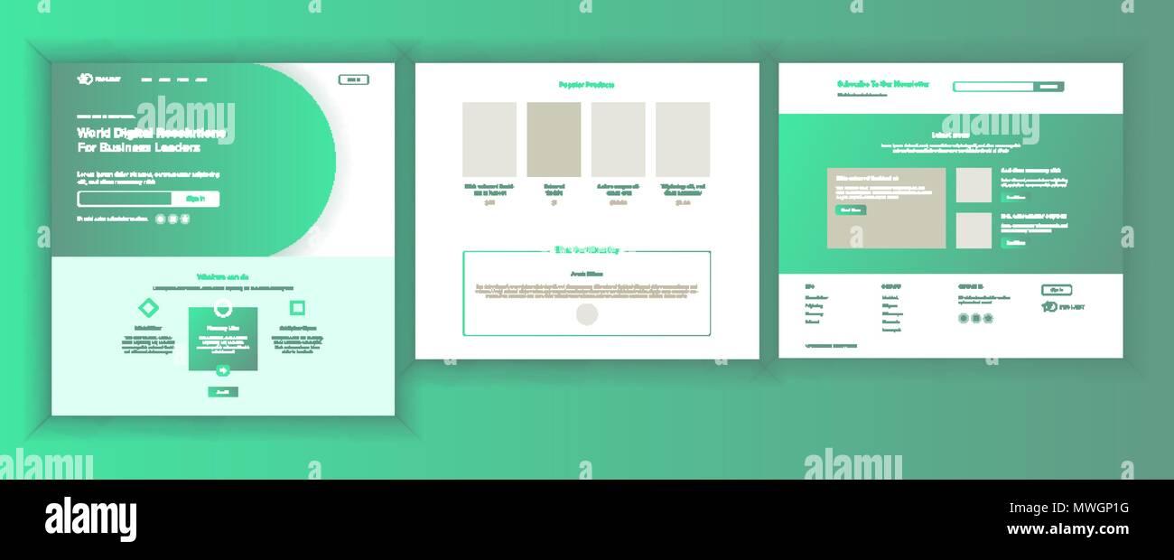 Web Page Design Vector. Website Business Screen. Internet Traffic ...