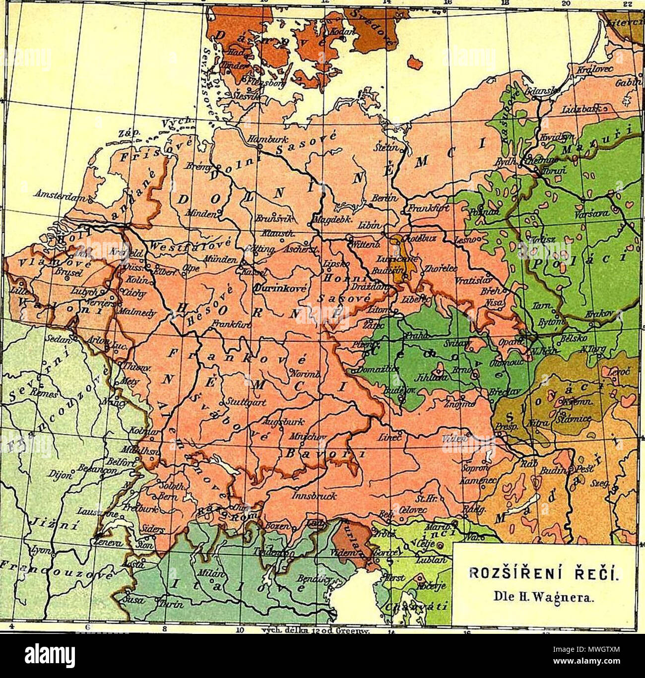Map Of Texas Vs Europe.Map Of Languages And Nations In Central Europe Before 1910 Areas In