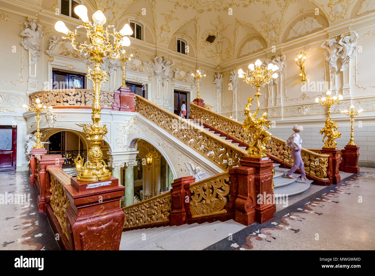 The Odessa National Academic Theatre of Opera and Ballet, Odessa, Ukraine - Stock Image