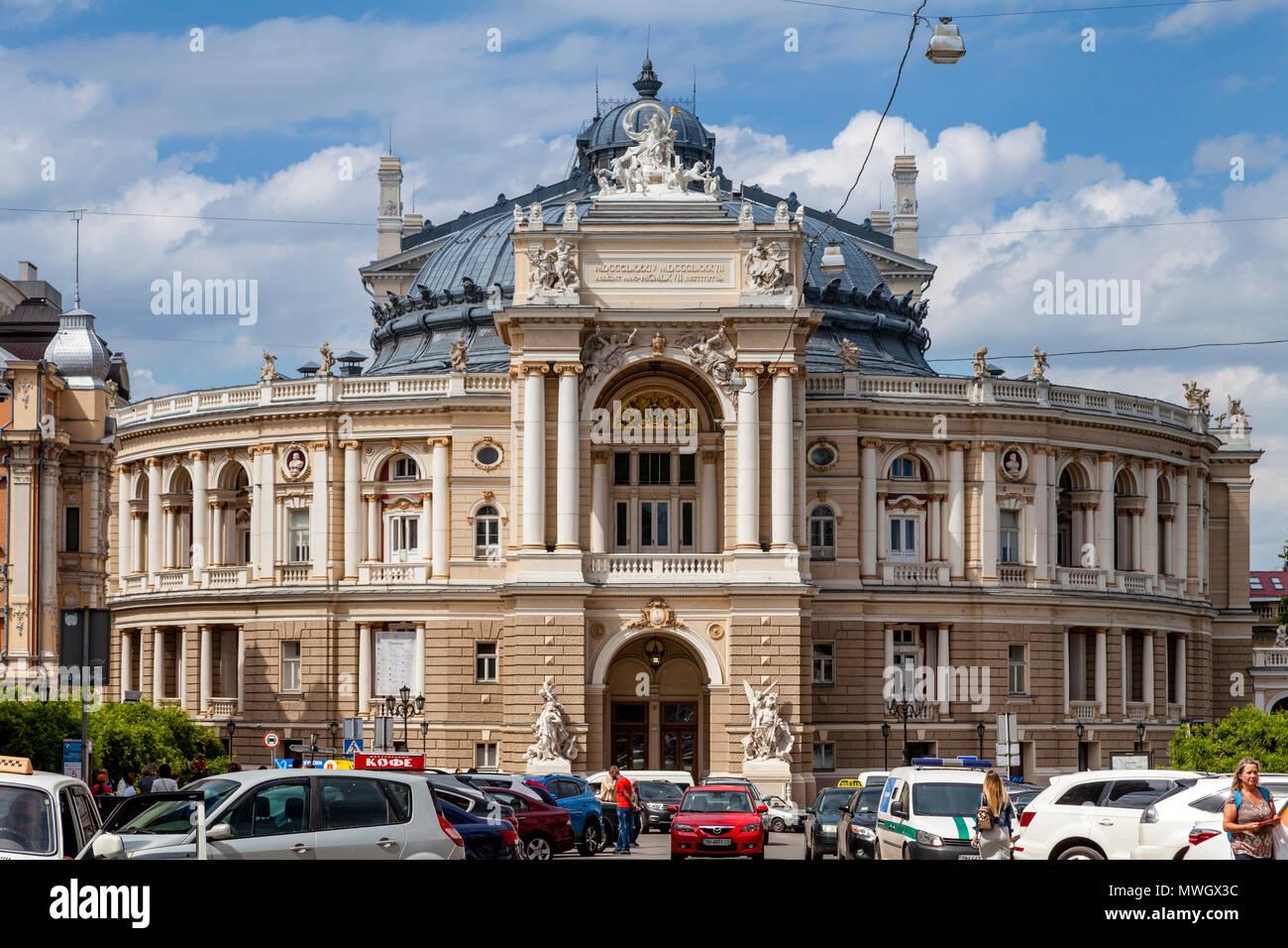 The Odessa National Academic Theatre of Opera and Ballet, Odessa, Ukraine. - Stock Image