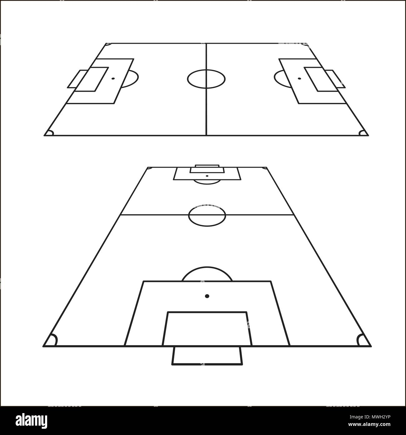 Sketch of soccer fields set football field design element soccer sketch of soccer fields set football field design element soccer field top view template vector illustration isolated on white background maxwellsz