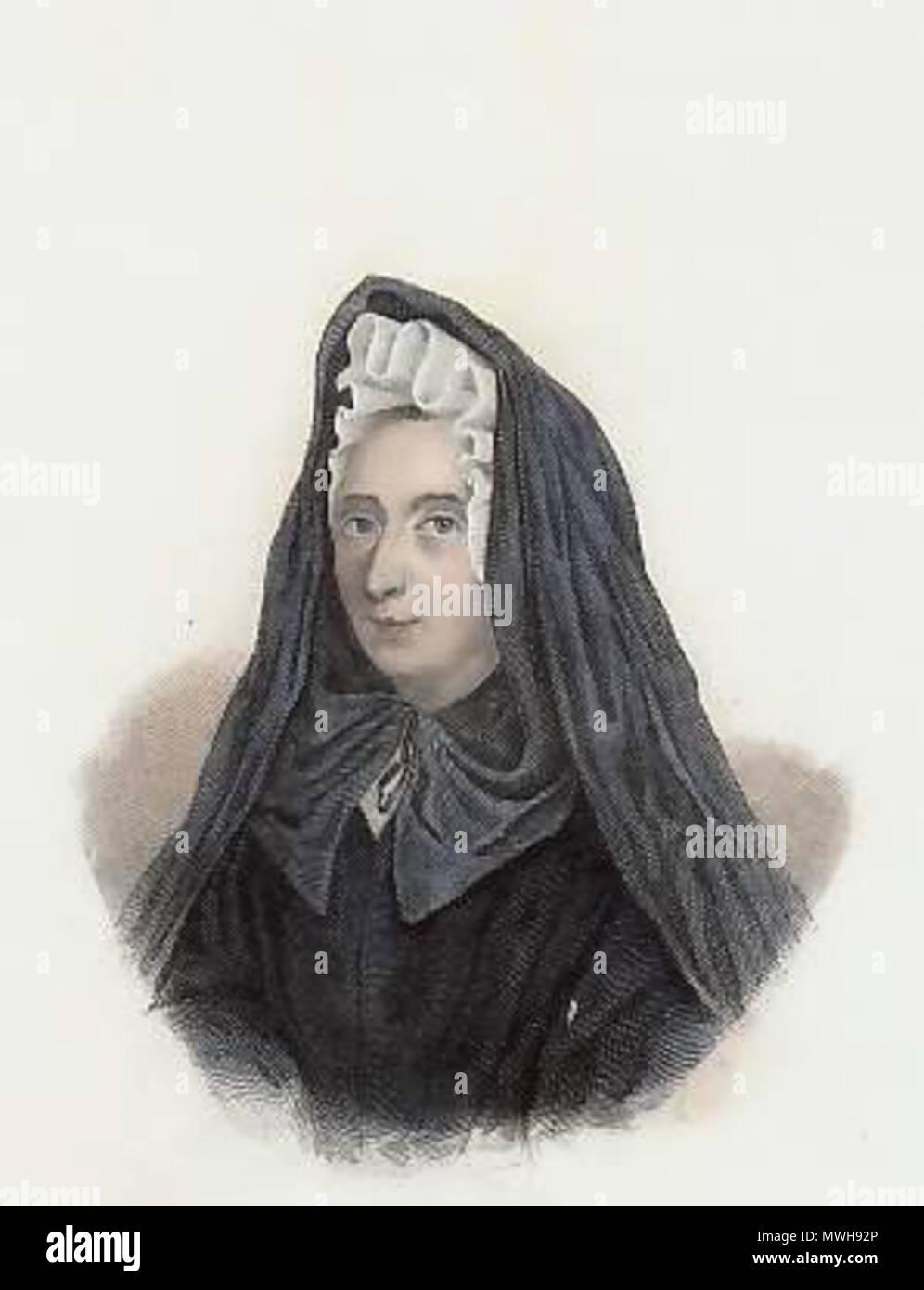 . English: Jeanne Guyon . circa 1845. Frankreich. Stahlstich. 421 Mme Guyon - Stock Image