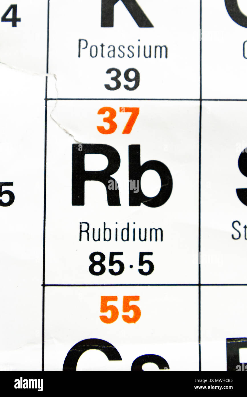 Rubidium Stock Photos Rubidium Stock Images Alamy
