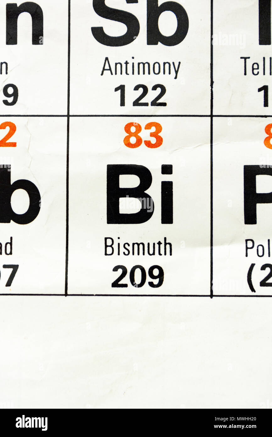 Bismuth Bi As It Appears A Uk Secondary School Periodic