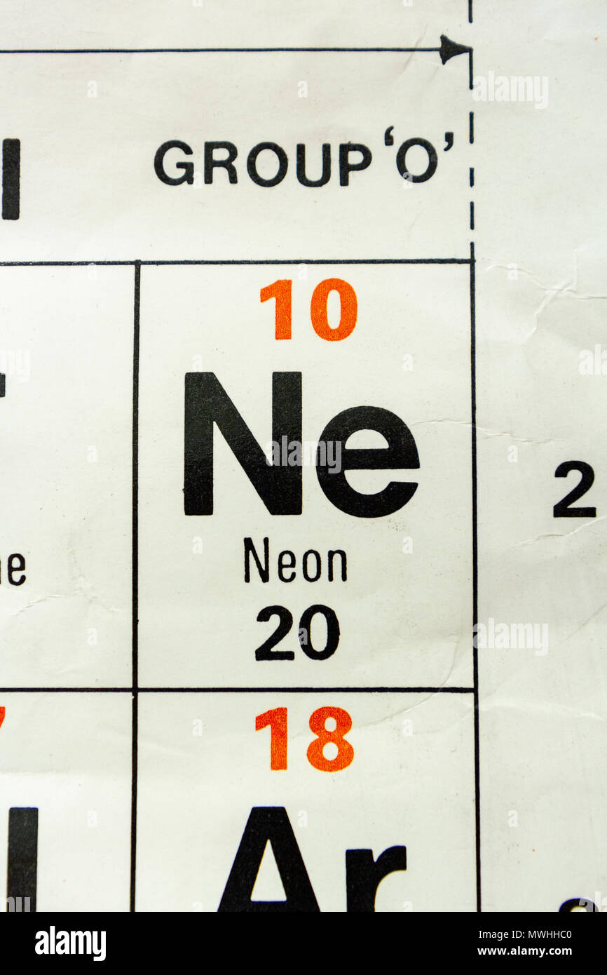 Chemical Symbol Ne Stock Photos Chemical Symbol Ne Stock Images