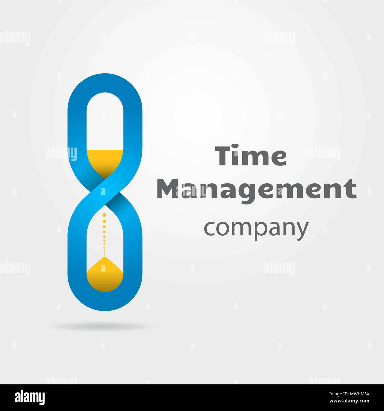 Hourglass Made Of Infinity Symbol Logotype For Time Management