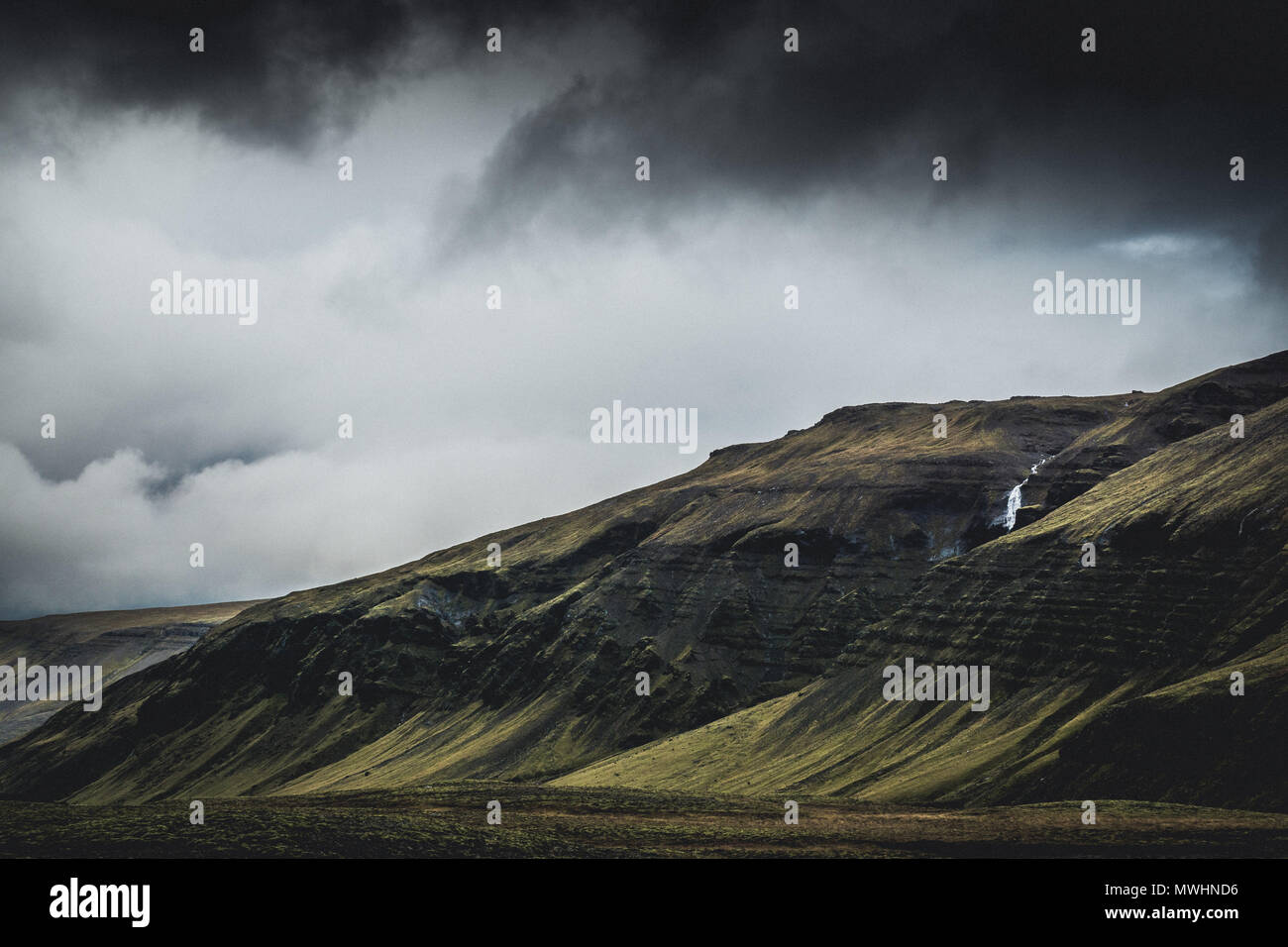 a typical landscape in the Icelandic Highlands. - Stock Image