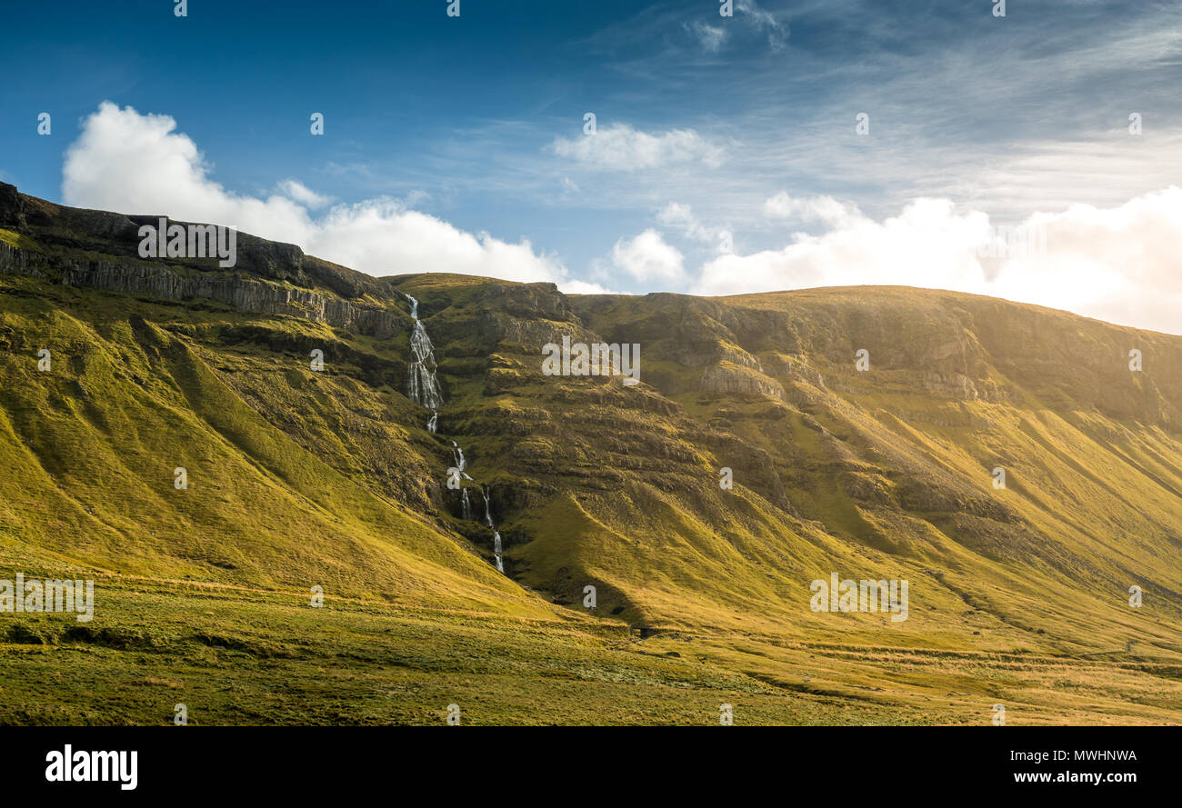 Snæfellsnes is a peninsula situated to the west of Borgarfjörður, in western Iceland.  It has been named Iceland in Miniature, because many national s - Stock Image