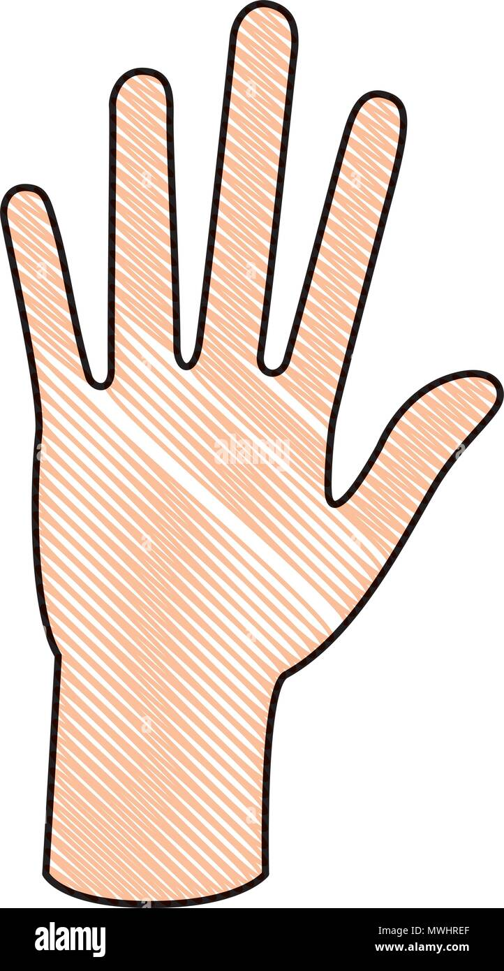 hand human isolated icon - Stock Vector