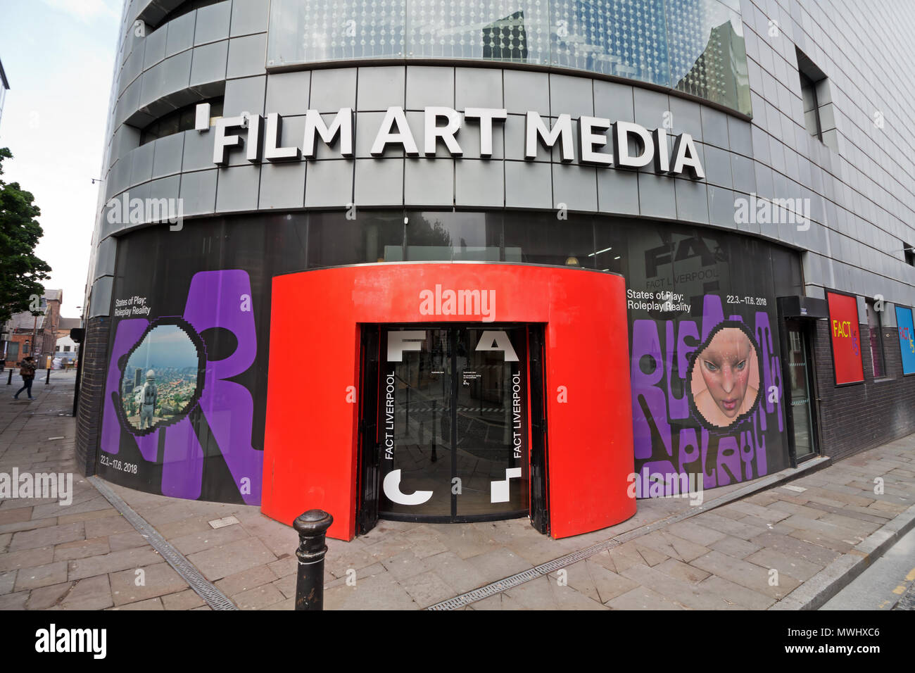 FACT media arts center in Wood Street Liverpool UK. Offer a unique programme of exhibitions, film and participant-led art projects. - Stock Image