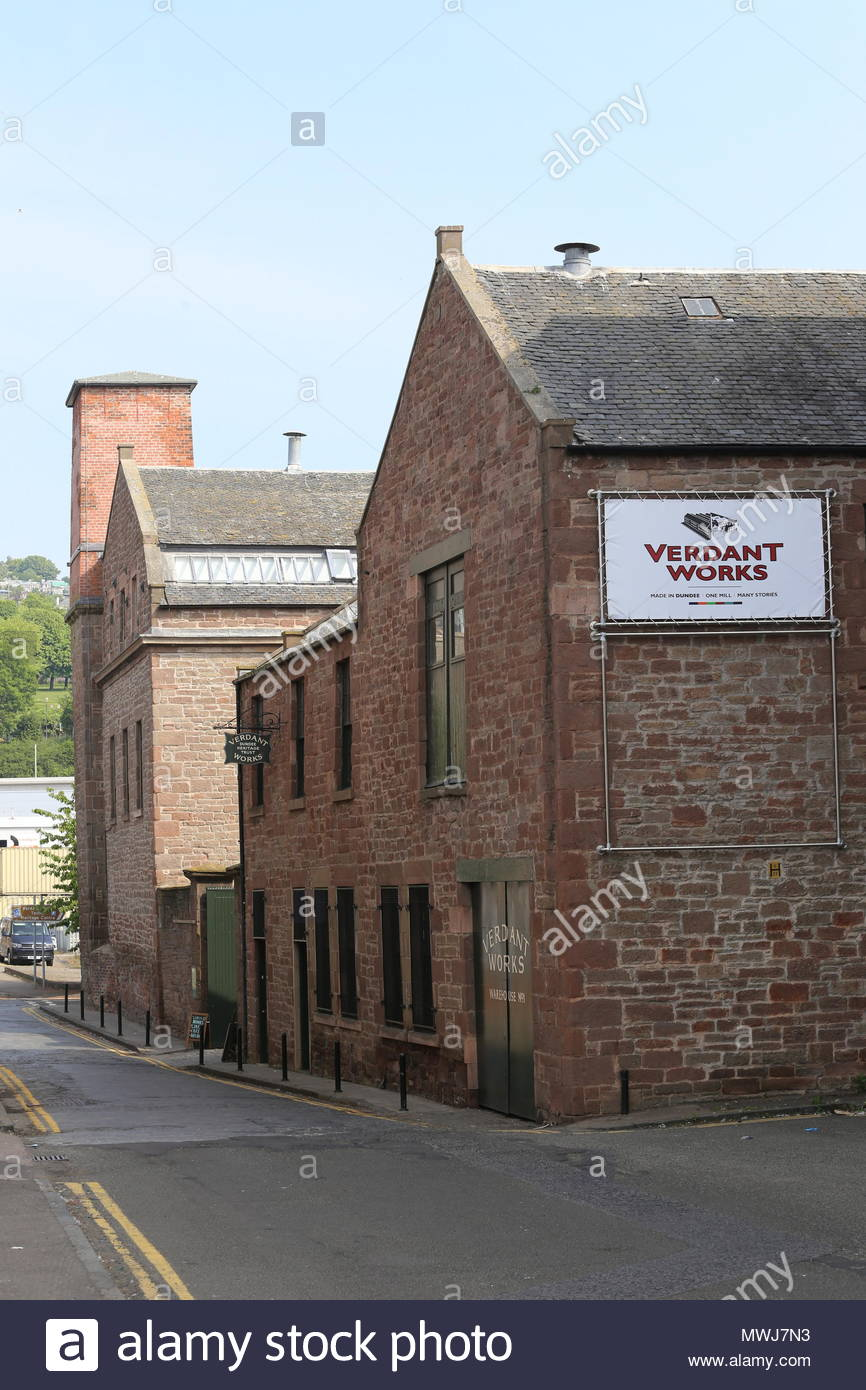Exterior of Verdant Works Jute Mill Museum Dundee Scotland  June 2018 - Stock Image