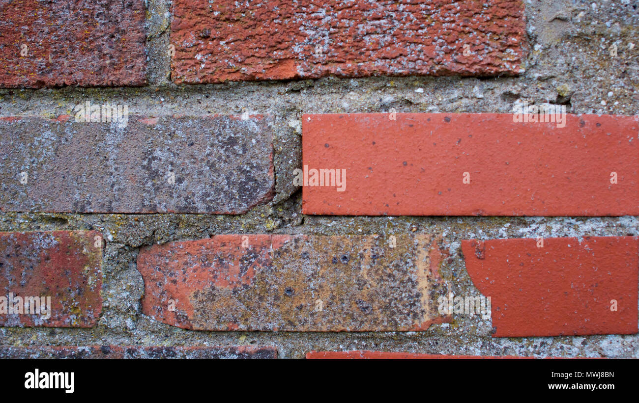 Textures in stone and brickwork - Stock Image
