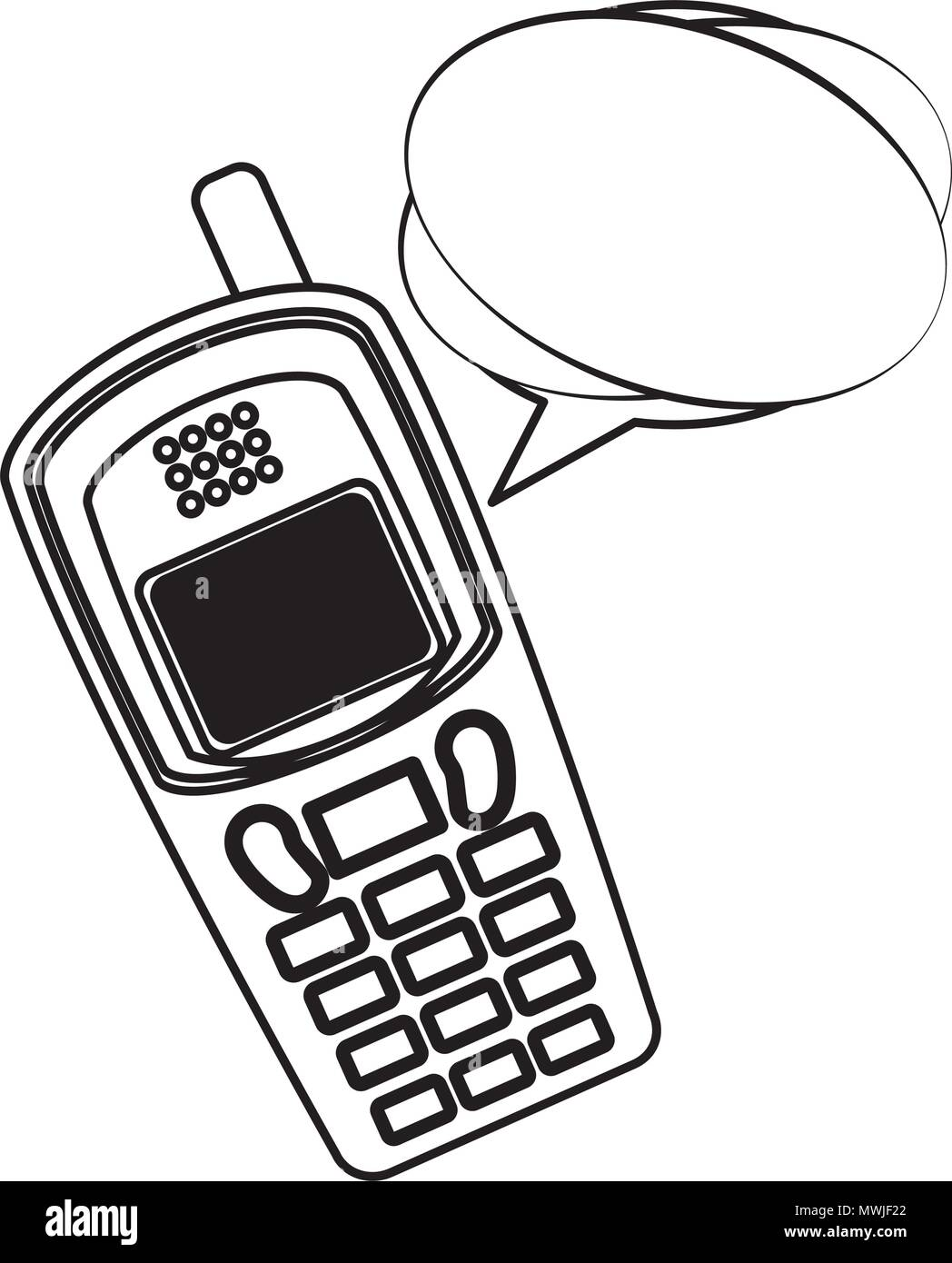 old cellphone with speech bubble retro style illustration design Princess Phone old cellphone with speech bubble retro style illustration design
