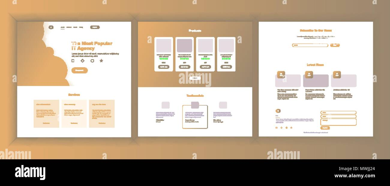 website design template vector business background landing web