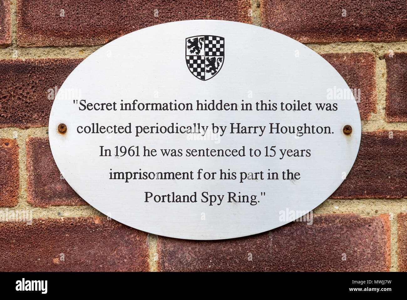 Public toilet in Alresford Hampshire where secret information was collect by Harry Houghton in 1961 as part of the Portland Spy Ring - Stock Image