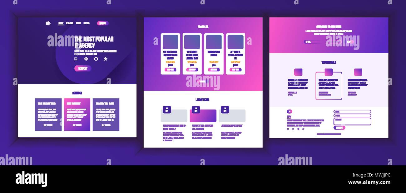Website page vector business agency web page design front end website page vector business agency web page design front end site scheme landing template protection receipt company concept group meeting maxwellsz