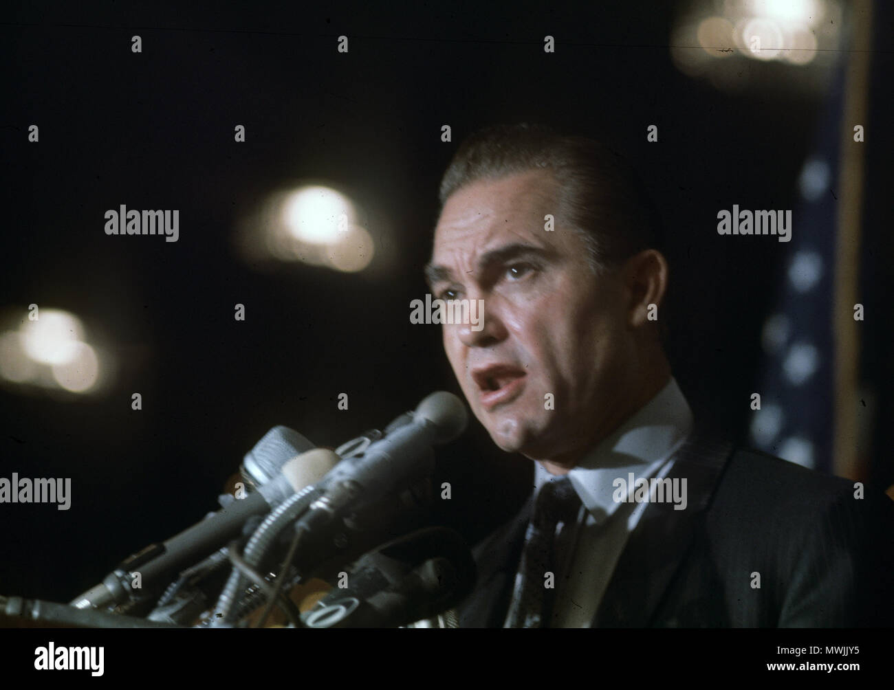 GEORGE WALLACE (1919-1998) American politician as Governor of Alabama in 1967 - Stock Image