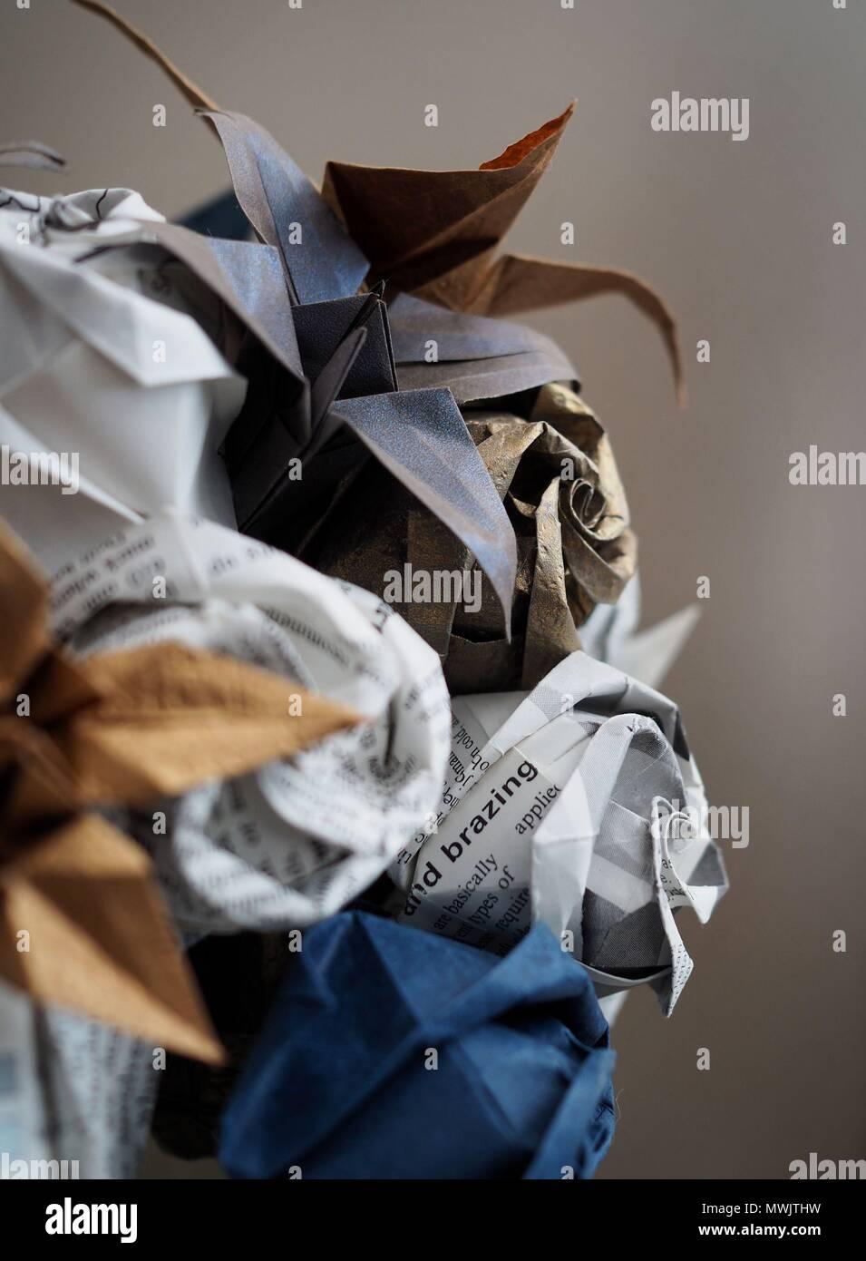 Origami Flower Bouquet Stock Photo 187884533 Alamy