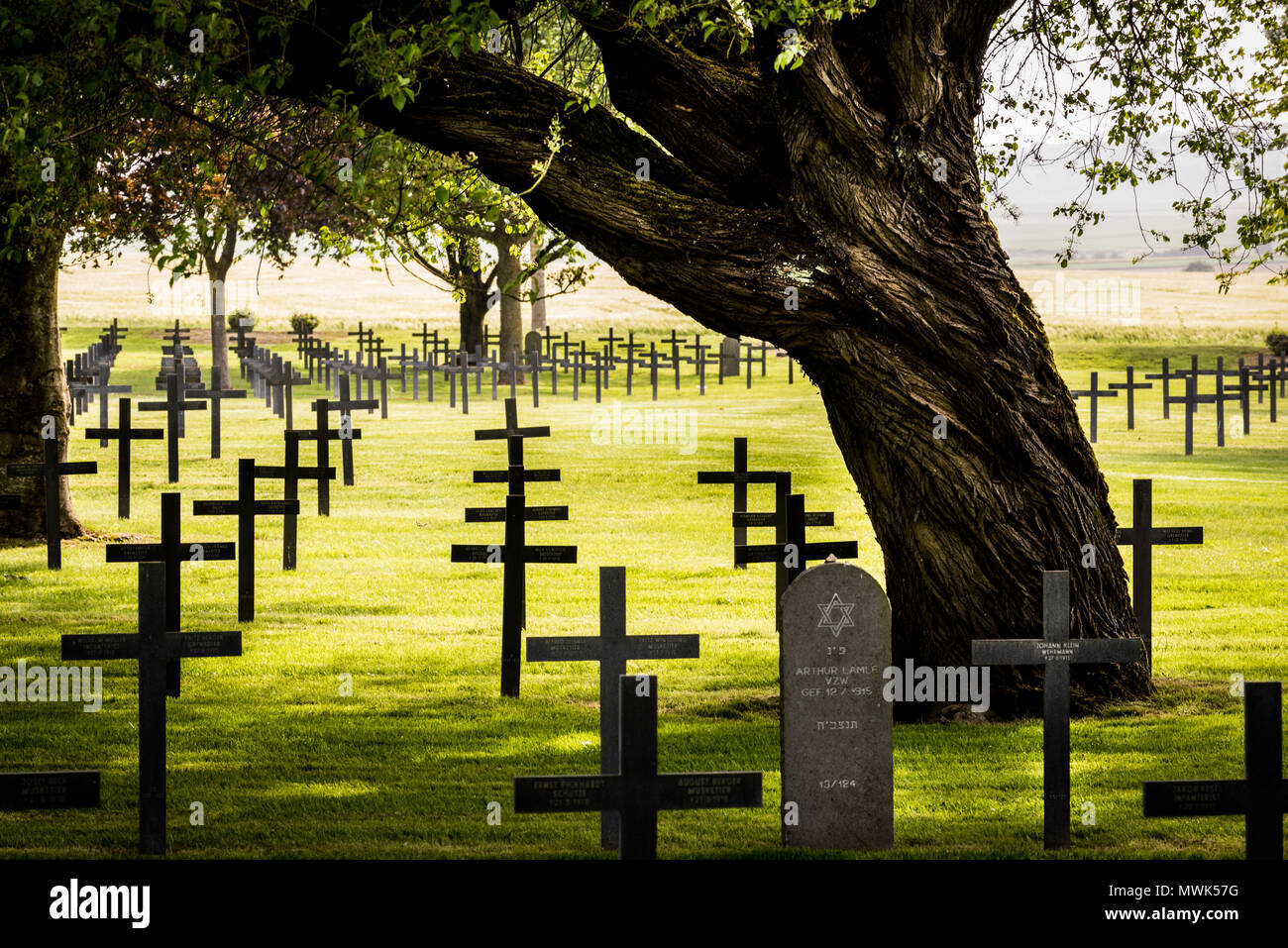 German First World War cemetery Neuville St Vaast, near Arras, France Stock Photo