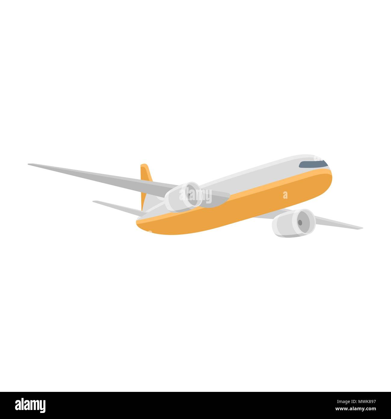 Airplane isolated vector illustration - Stock Image