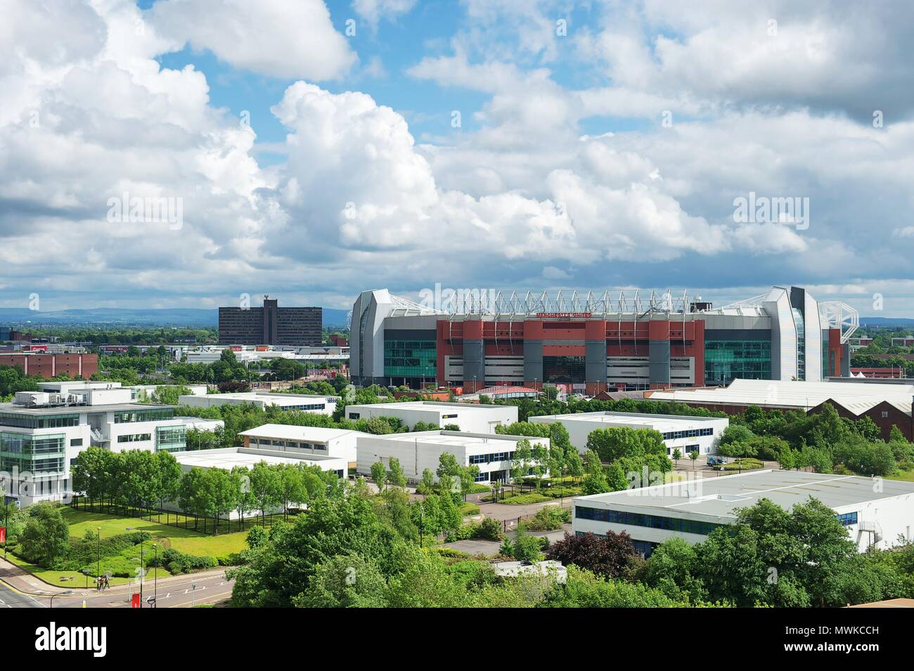 Quay West and views from, Salford Quays, Manchester - Stock Image