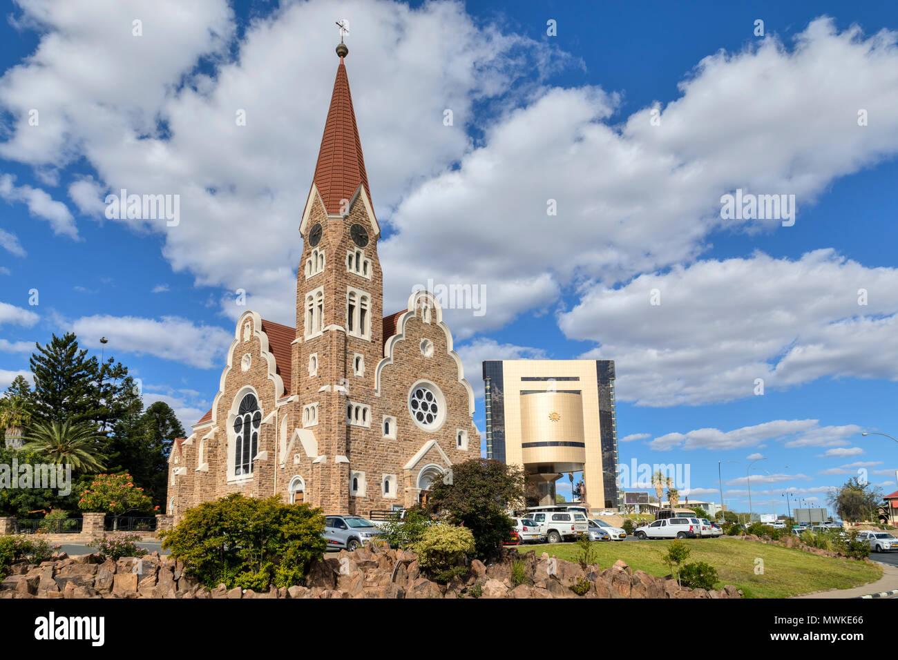 Windhoek, Christuskirche, Namibia, Africa - Stock Image