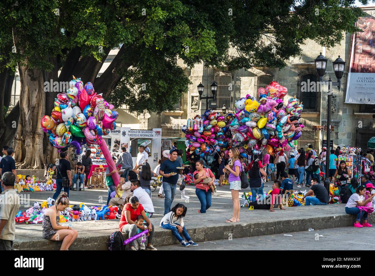 Street Sellers At Alameda De Leon Square Oaxaca Mexico