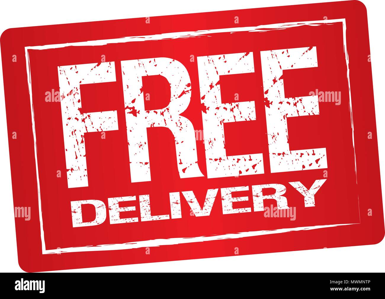 Free delivery label - Stock Image