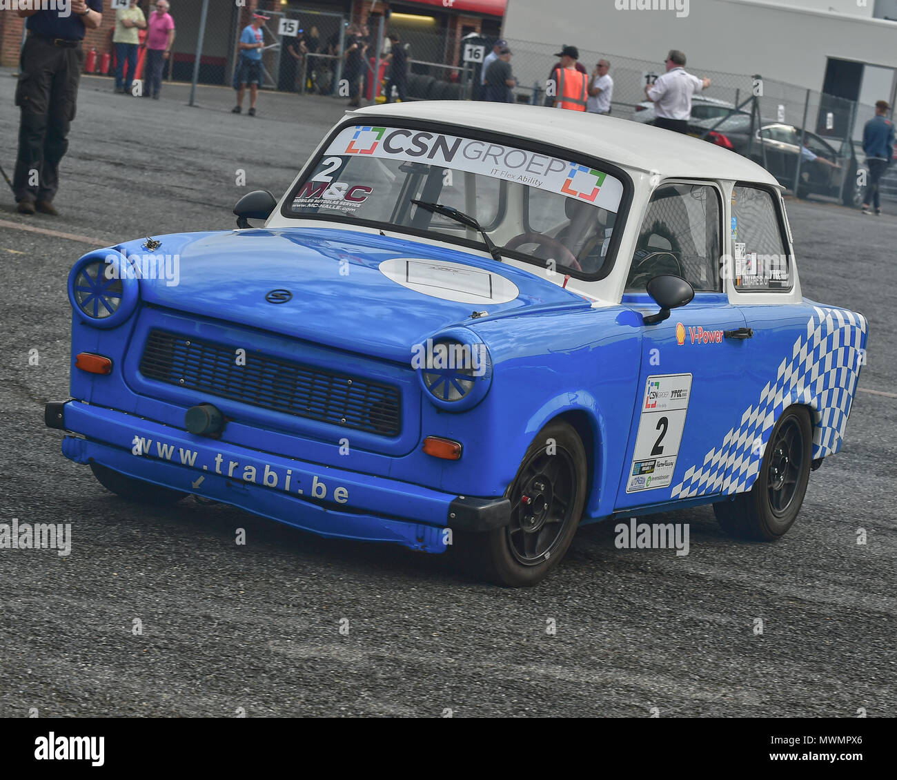 Bart Lemaire, Trabant 601 RS, CSN Groep, Youngtimer Touring Car Challenge, Masters Historic Festival, Brands Hatch, Sunday 27th May 2018, Brands Hatch - Stock Image