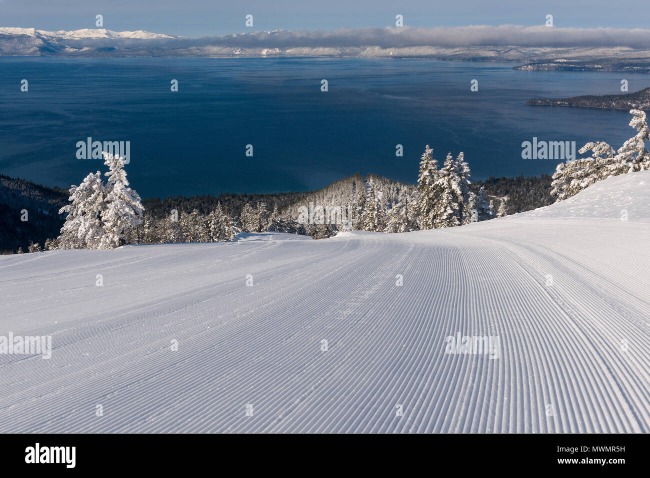 lake tahoe as viewed from diamond peak ski resort in incline village