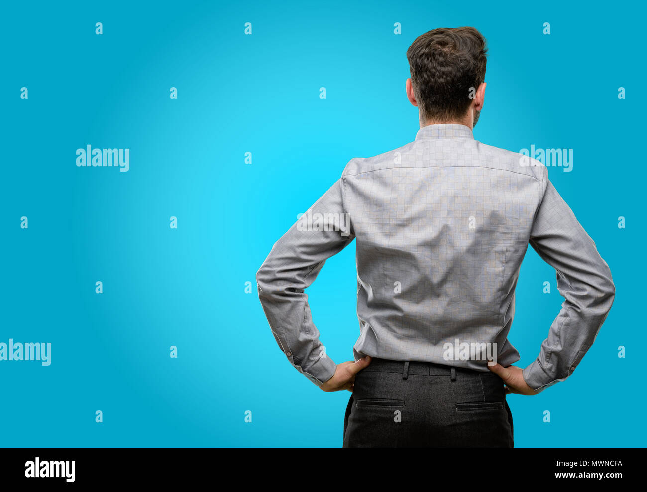 Tie backwards stock photos tie backwards stock images alamy middle age man with beard and bow tie backside rear view stock image ccuart Image collections