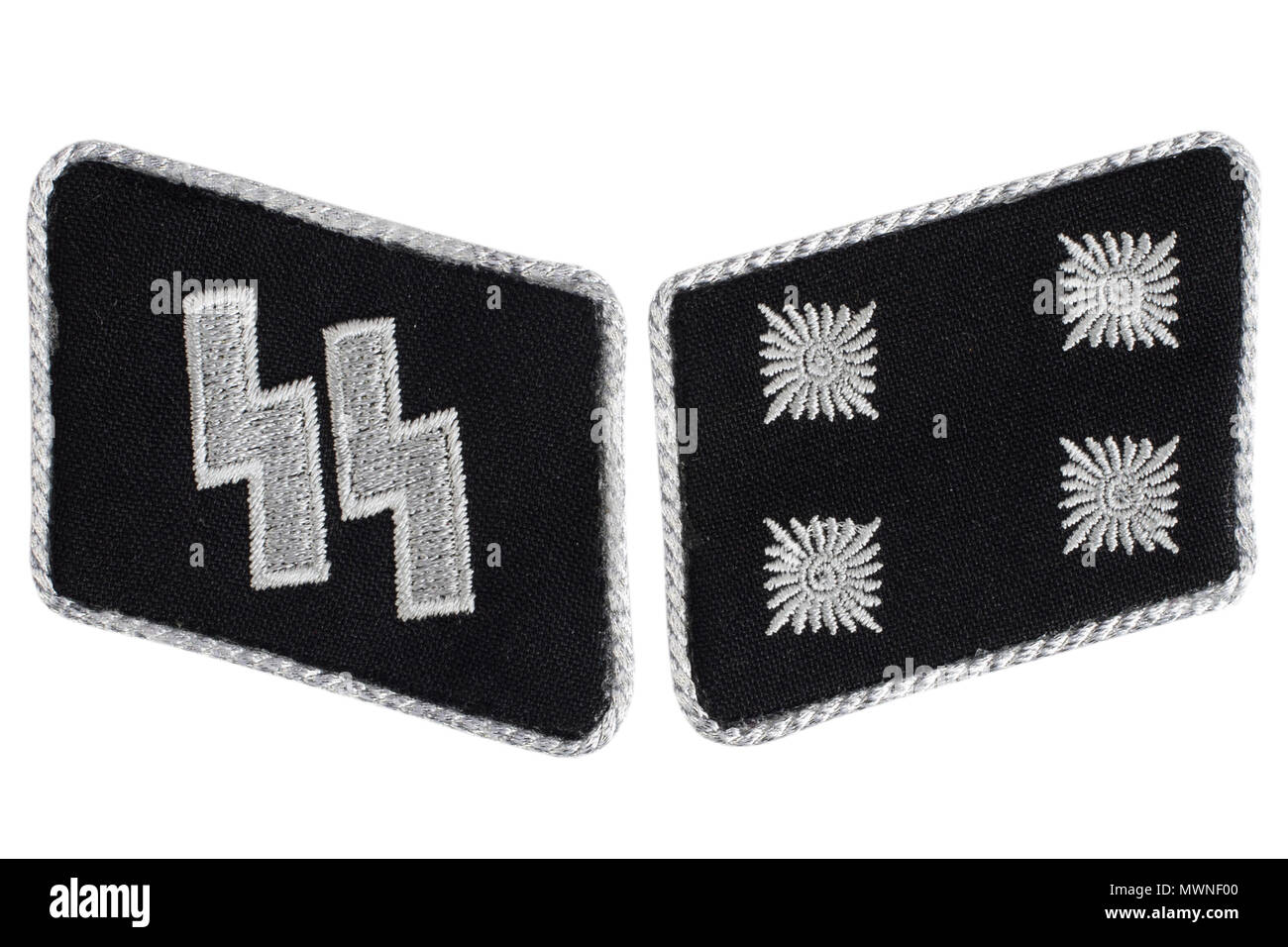 Ww2 German Waffen Ss Military Insignia Isolated On White Stock Photo